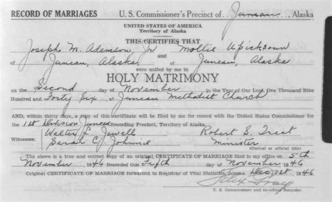 Alaska Marriage Records Alaska Genealogy And An Important Milestone Genealogy Gems