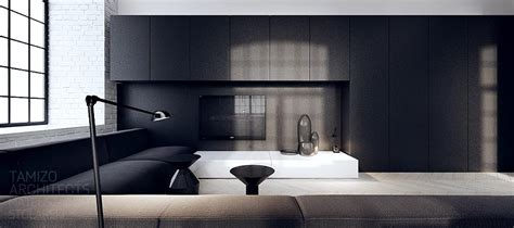 interior design black interior design in black white