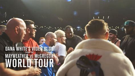 dana white bench press watch dana white s vlog mayweather mcgregor worl tour