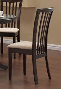 Amazon Kitchen Furniture Set Of 2 Dining Chairs Microfiber Fabric Cappuccino Finish