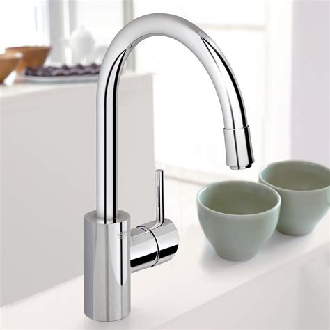 grohe concetto kitchen faucet grohe concetto single lever kitchen mixer 1 2 quot pullout