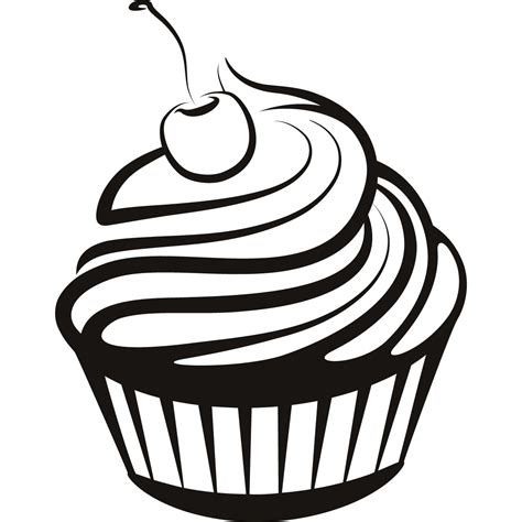 free cupcake clipart cupcake line drawing free clip free clip