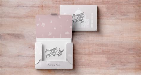 Reward Cards Template Mock Up by Psd Postcard Box Mockup Psd Mock Up Templates Pixeden