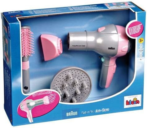 Braun Hair Dryer Souq theo klein braun hair dryer with diffusor and brush pretend play dress up gray and pink