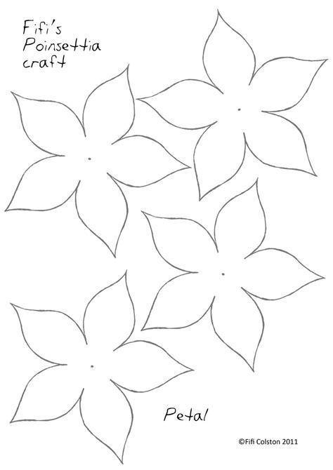poinsettia paper flower template paper flower template