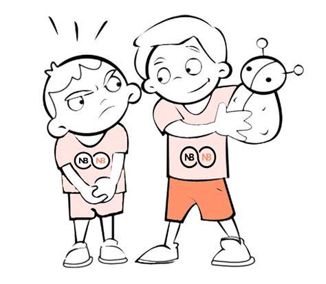 dibujos de niños jugando y peleando dibujos de ni 241 os peleando por un juguete imagui