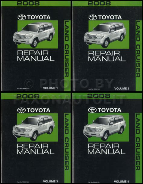 2008 toyota land cruiser repair shop manual original set