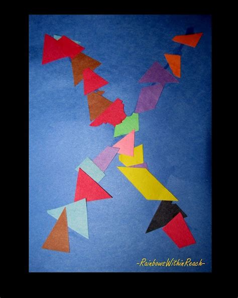 project x craft letter x children s project shapes colors preschool