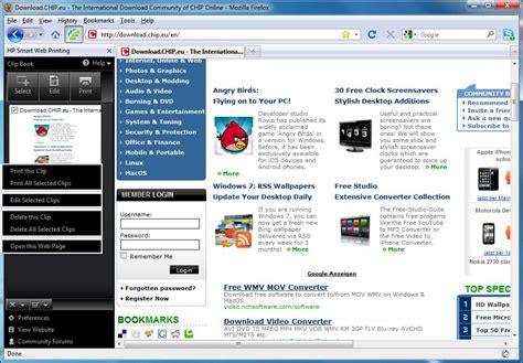 hp web software hp smart web printing freeware en chip eu