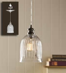 in pendant light in bell shaped ribbed glass pendant light ls