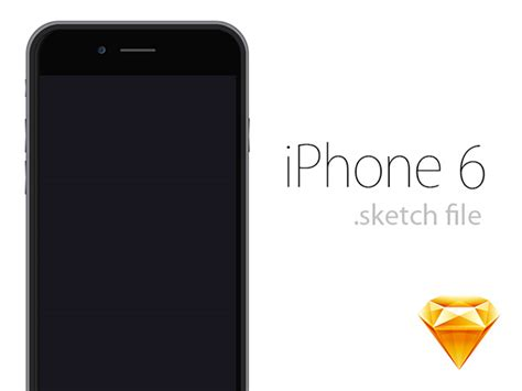 template of iphone 6 iphone 6 sketch template free psd and html