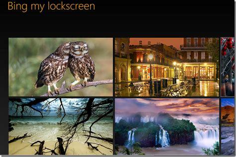 wallpaper engine lock screen use microsoft bing daily wallpaper as windows 8 lock