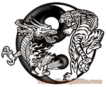 tattoo dragon and tiger meaning famous dragon tiger tattoo design tattoos pinterest