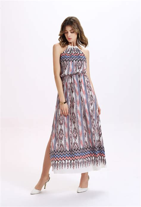 Dress Casual Multi Color 2018 multicolor necklace cheap maxi dress summer casual
