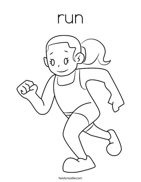 coloring page of boy running run coloring page twisty noodle