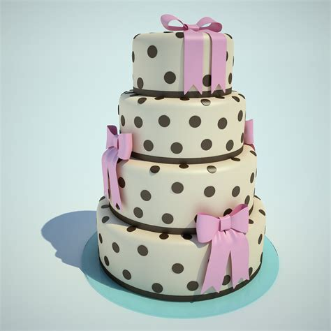 wedding cake model 3d model wedding cake