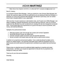 Cover Letter General Manager by Best Admin General Manager Cover Letter Exles Livecareer