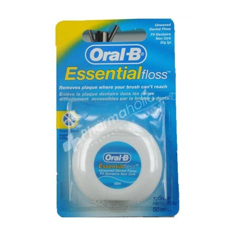 Dental Floss And care b essential floss unwaxed dental floss 50m