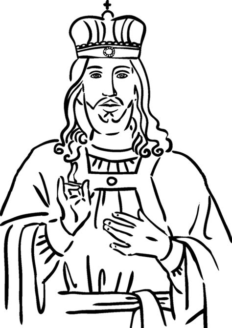 crown him king coloring page