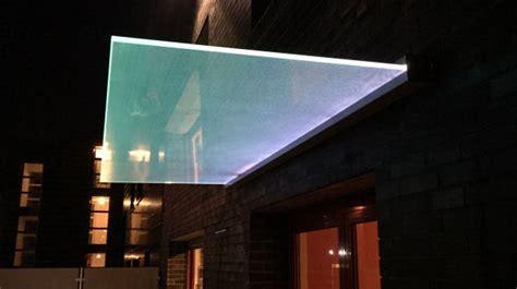 Vordach Mit Beleuchtung by Gluminat Glas Glasprofi24