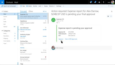 Office 365 Outlook Is Requesting Data From The Server What Are Actionable Messages In Office 365 Microsoft Docs