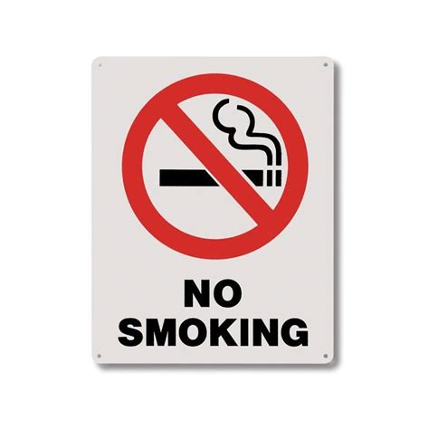 no smoking sign plastic 8x10 rigid plastic no smoking signs rp115 internegoce s a