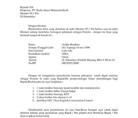 format surat lamaran kerja guru smp contoh cv lamaran kerja guru smp contoh waouw