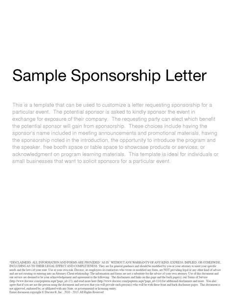 Sponsorship Letter Word Template Free Sponsorship Form Template Word Excel Pdf Sles Daily Roabox