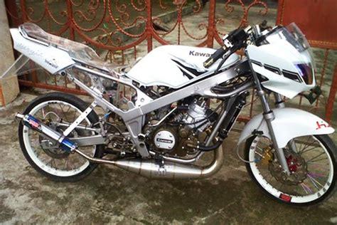 Modifikasi Rr Warna Putih Jari Jari by Modifikasi Motor Kawasaki 150 L Velg Jari Jari