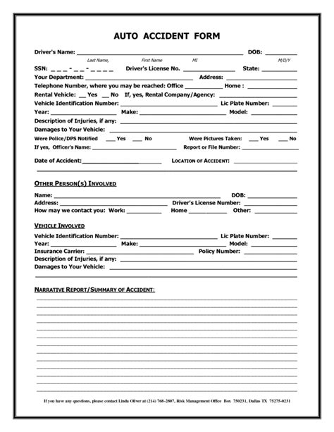 Car Whiplash Settlement Templates Print Paper Templates Insurance Claim Form Template