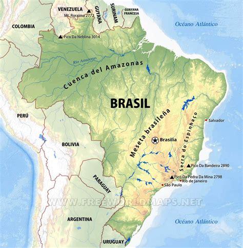 imagenes satelitales brasil mapa f 237 sico do brasil geograf 237 a do brasil