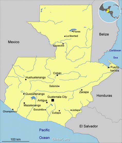 guatemala map map  guatemala