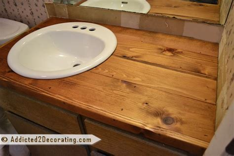 Diy Wood Bathroom Countertop by 41 Best Images About Countertops On Stains