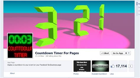 aftellende klok how to install a countdown timer app to your facebook fan