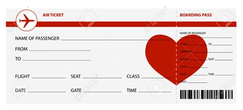 Airplane Ticket Template airline ticket template word