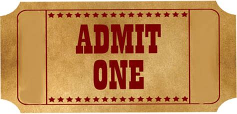 admit one ticket template printable search results
