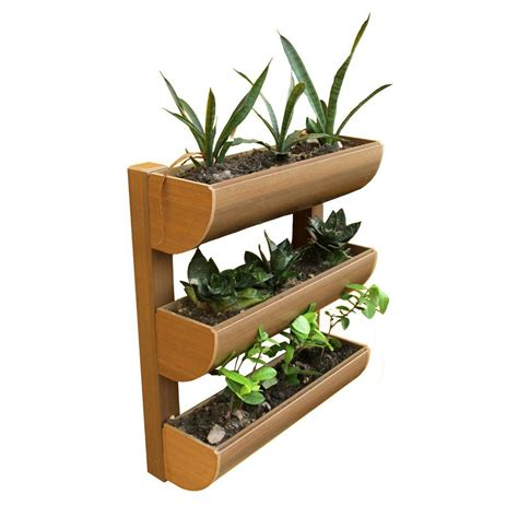Mini Planters by Dc America City Garden Chem Wood Mini Wall Planter 3