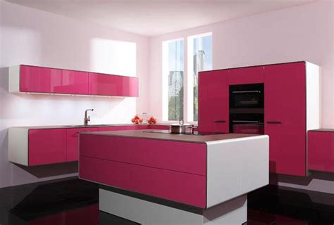 Vintage Kitchens Designs Purple And Pink Kitchen Colors Adding Retro Vibe To Modern