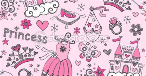 doodle tiara princess tiara pattern sketchy notebook doodles vector set