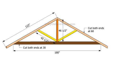 Simple Roof Truss Design Shed by 17 Best Images About Exterior Projects On