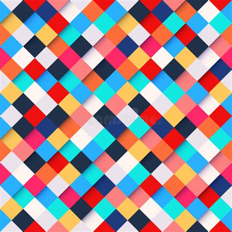 pattern background square abstract colorful square pattern background stock
