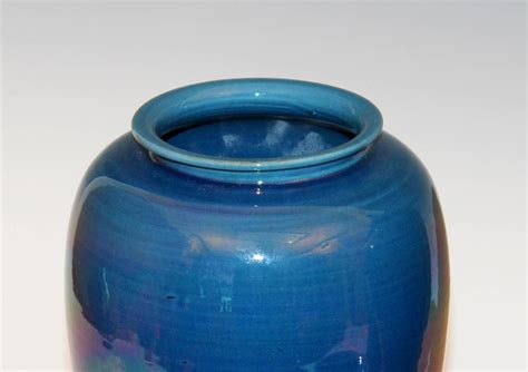 Blue Vases For Sale by Collection Four Blue Awaji Pottery Vases For Sale At 1stdibs