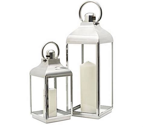 Large Silver Candle Lanterns by Classic Silver Glass Candle Lantern Large Luxe