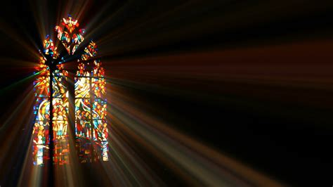 Windows Of Light by Light Rays Through Stained Glass Motion Background