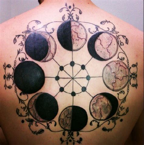 moon cycle tattoo outstanding meaning of moon phase tattoos tattoos win
