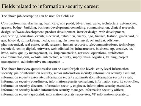 design development engineer job description top 10 information security interview questions and answers