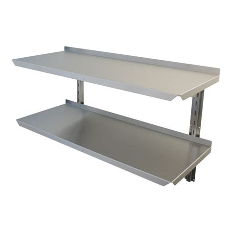 adjustable stainless steel wall shelving manufactured by