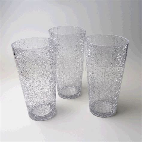 Clear Vases Cheap by Wholesale Clear Crackle Glass Cheap Flower Vases