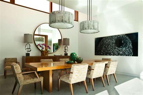 elegant drum lamp shade  dining room contemporary