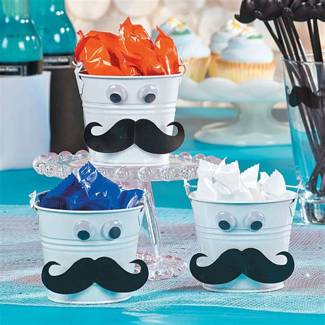 Mustache Favor Tins Orientaltrading Com Idea For Mustache Centerpieces